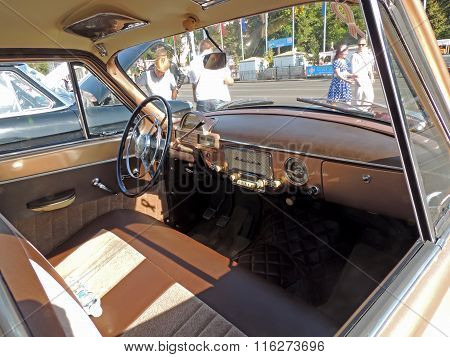 Dashboard Of The Soviet Retro Car Volga 21