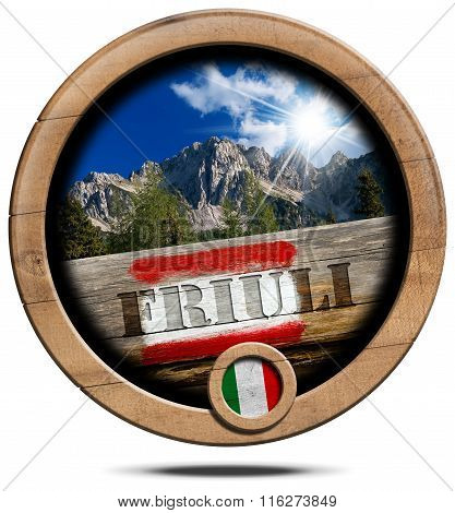 Mountains Of Friuli - Wooden Symbol