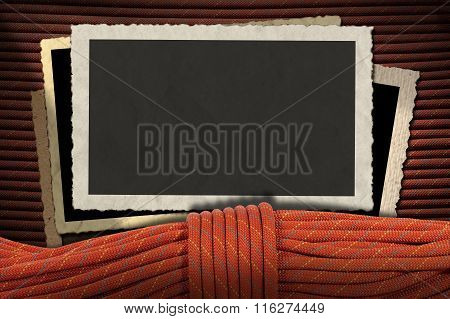 Vintage Photo Frames With Climbing Rope