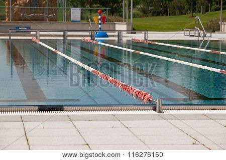 Outdoor Pool Lanes.