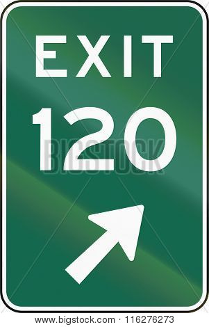 United States Mutcd Road Sign - Exit 120