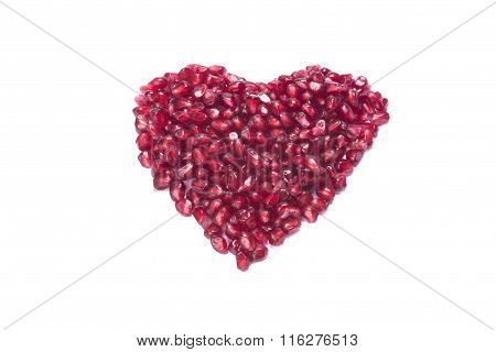 Heart From Pommgranate Pits