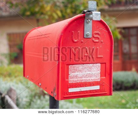 Us Vintage Red Mail Box
