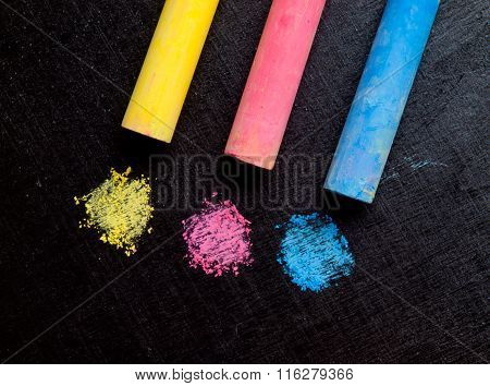 Colored Chalk, Primary Colors..