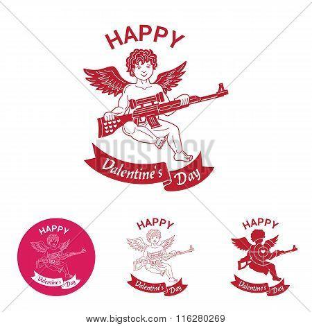 Valentine's Day Comic Emblem