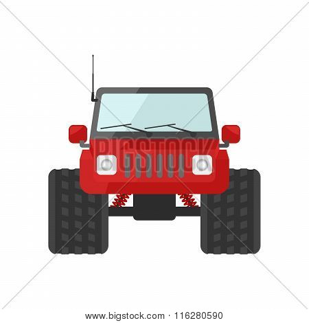 Image Of A Red Suv Toy Car