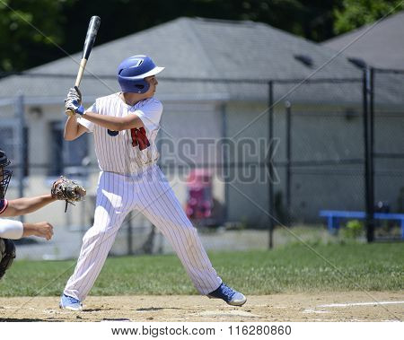Teen Baseball Batter