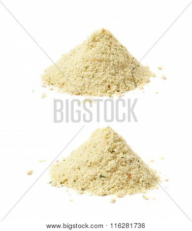 Pile of potato powder isolated