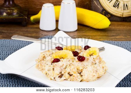 Oatmeal Cranberry and Banana Health Diet Food