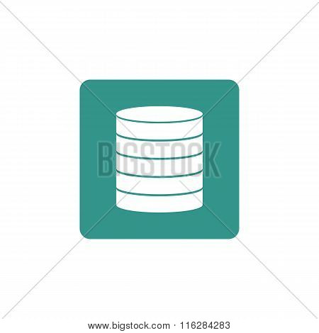Database Icon On Button Style Background