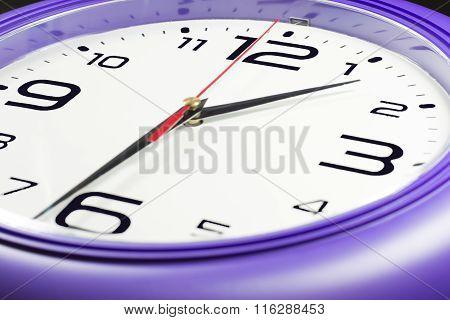 Purple Wall Clocks