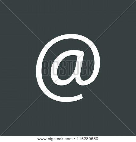 Email Icon On Dark Background