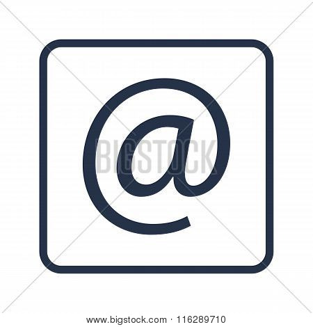 Email Icon On Rounded Rectangle Background