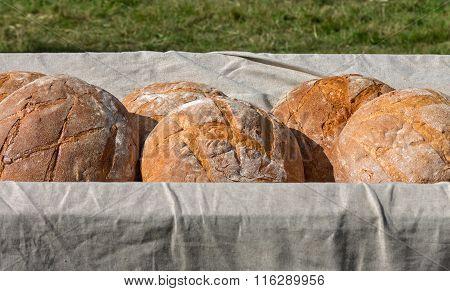 Fresh Hearth Bread In The Cart