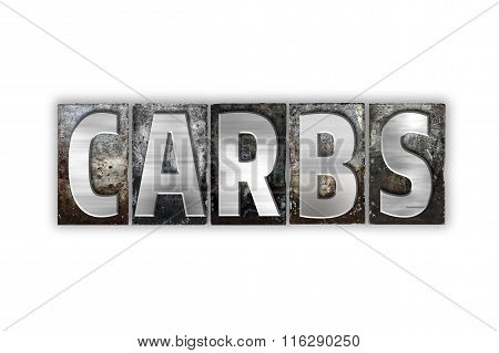 Carbs Concept Isolated Metal Letterpress Type