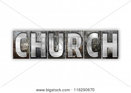 Church Concept Isolated Metal Letterpress Type