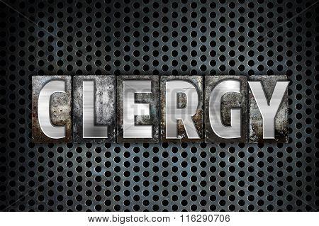 Clergy Concept Metal Letterpress Type