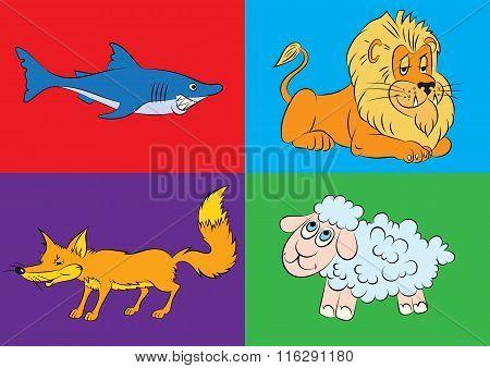 Illustration Of Animation Of Animals