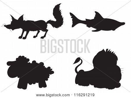 Illustration Of Animation Silhouette Of Animals