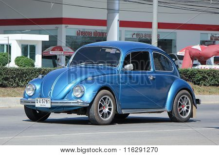 Vintage Private Car, Volkswagen Beetle.