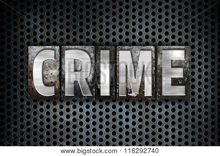 Crime Concept Metal Letterpress Type