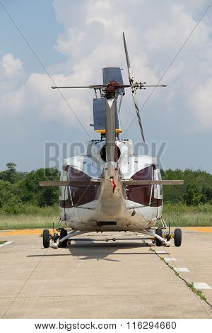 Back Of Helicopter Parking