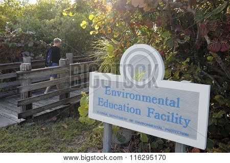 Environmental Education Facility Entrance Sign