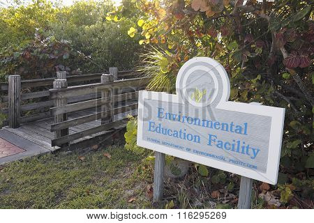 Environmental Education Facility Sign And Entrance