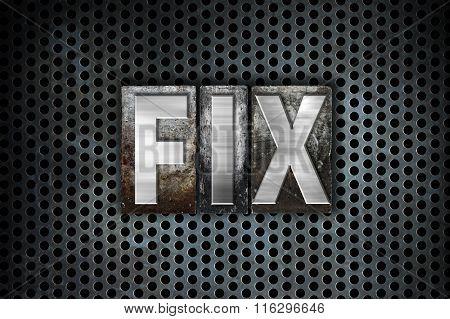 Fix Concept Metal Letterpress Type
