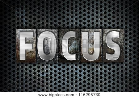Focus Concept Metal Letterpress Type
