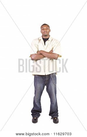 Casua Black Man Posing While Standing