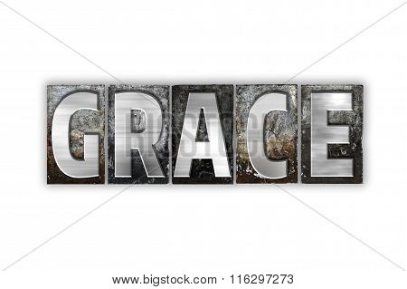 Grace Concept Isolated Metal Letterpress Type