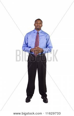 Handsome Black Businessman Standing