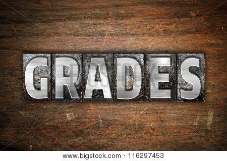 Grades Concept Metal Letterpress Type