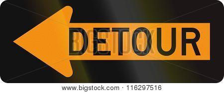 United States Mutcd Road Sign - Detour
