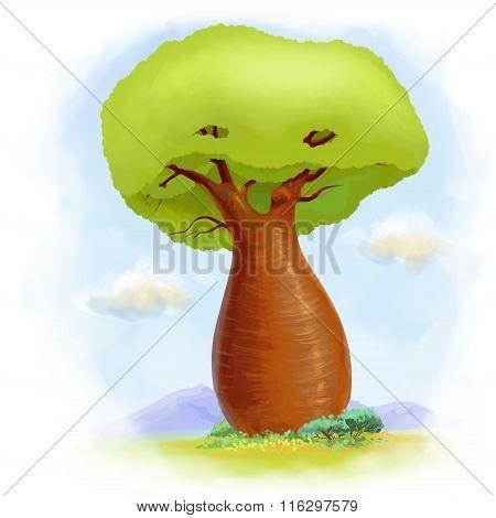 Cartoon Baobab