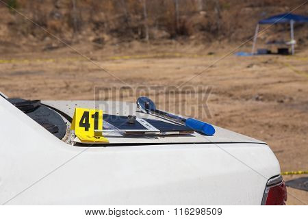 Crime Scene Equipment On Vehicle
