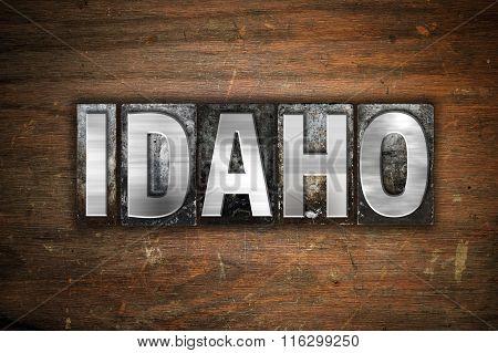 Idaho Concept Metal Letterpress Type