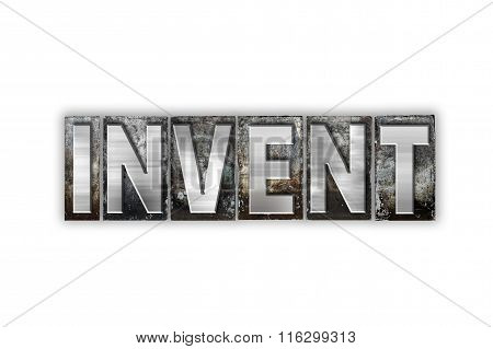Invent Concept Isolated Metal Letterpress Type