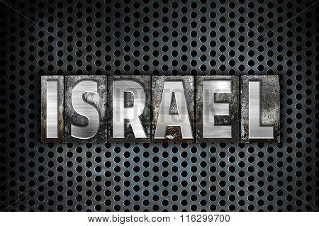 Israel Concept Vintage Letterpress Type