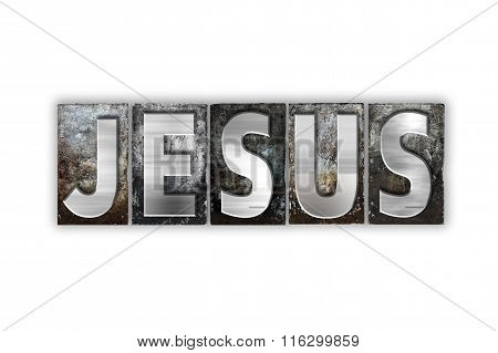 Jesus Concept Isolated Metal Letterpress Type