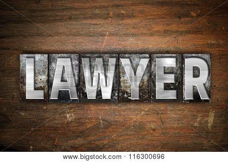 Lawyer Concept Metal Letterpress Type