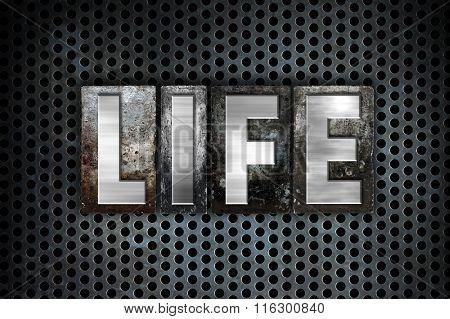 Life Concept Metal Letterpress Type