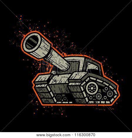 Cartoon Army Tank