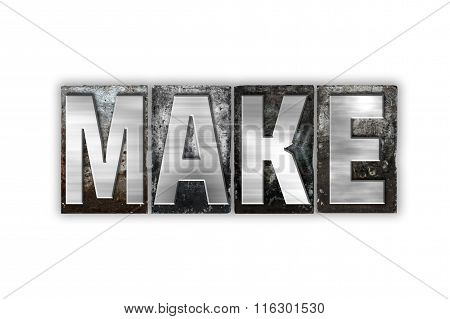 Make Concept Isolated Metal Letterpress Type