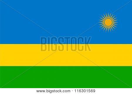 Standard Proportions For Rwanda Flag