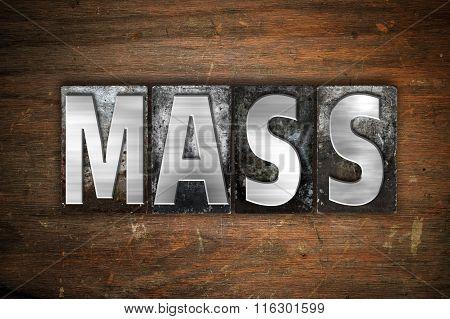 Mass Concept Metal Letterpress Type