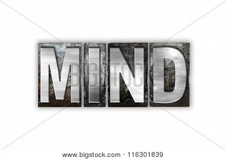 Mind Concept Isolated Metal Letterpress Type