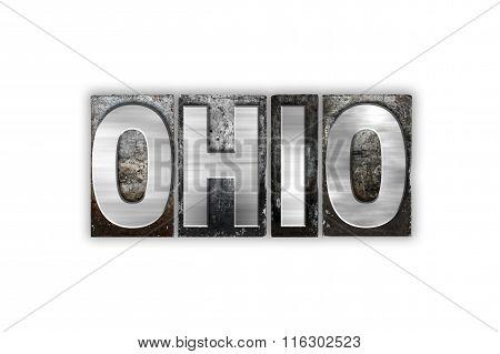 Ohio Concept Isolated Metal Letterpress Type