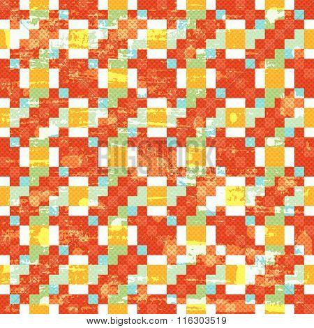 Vintage Polygons Seamless Geometric Pattern Grunge Texture